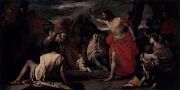 Stanzione Massimo The Preaching of St John the Baptist in the Desert c. 1634