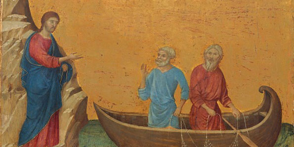 The calling of the apostles Peter and Andrew Duccio di buoninsegna